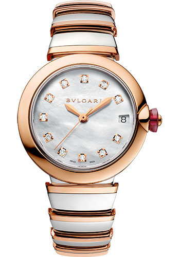 Bulgari Watches - Lucea 33 mm - Steel and Pink Gold - Style No: 102198