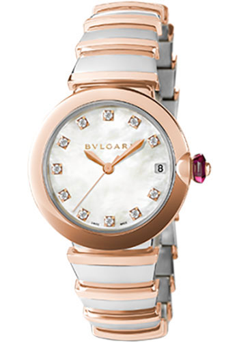 Bulgari Watches - Lucea 33 mm - Steel and Pink Gold - Style No: 102198 LU33WSPGSPGD/11