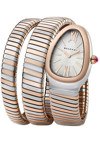 Bulgari Watches - Serpenti 35 mm - Steel and Pink Gold - Style No: 102236 SP35C6SPG.2T