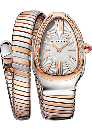 Bulgari Watches - Serpenti Tubogas - 35 mm - Steel and Rose Gold - Style No: 102237