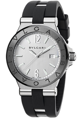 Bulgari Watches - Diagono 42 mm - Steel and Black Ceramic - Style No: 102252 DG42C6SCVD