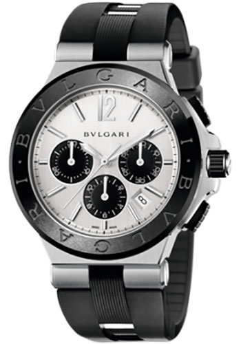 Bulgari Watches - Diagono 42 mm - Steel and Black Ceramic - Style No: 102253 DG42C6SCVDCH