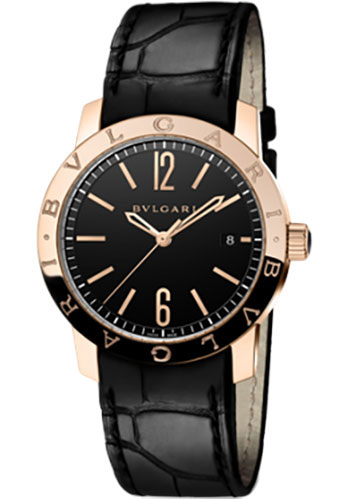 Bulgari Watches - Bulgari Bulgari 39 mm - Pink Gold - Alligator Strap - Style No: 102261 BBP39BGLD