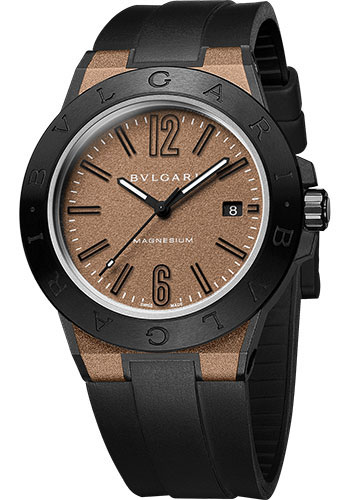Bulgari Watches - Diagono 41 mm - Magnesium - Style No: 102306 DG41C11SMCVD