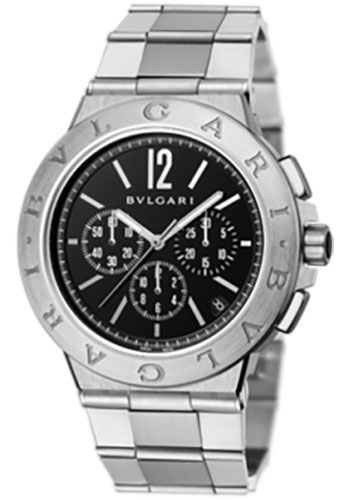 Bulgari Watches - Diagono Velocissimo 41 mm - Stainless Steel - Style No: 102330 DG41BSSDCH