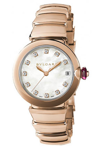 Bulgari Watches - Lucea 33 mm - Pink Gold - Style No: 102353 LUP33WGGD/11