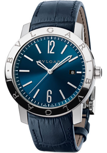 Bulgari Watches - Bulgari Bulgari 41 mm - Stainless Steel - Alligator Strap - Style No: 102355 BB41C3SLD