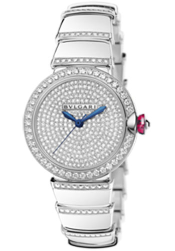 Bulgari Watches - Lucea 33 mm - White Gold - Style No: 102380 LUW33D2GDGD1