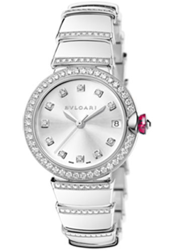 Bulgari Watches - Lucea 33 mm - White Gold - Style No: 102381 LUW33C6GDGD1D/11