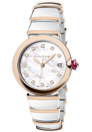 Bulgari Watches - Lucea 36 mm - Steel and Pink Gold - Style No: 102384 LU36WSPGSPGD/11