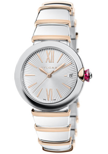 Bulgari Watches - Lucea 36 mm - Steel and Pink Gold - Style No: 102385 LU36C6SSPGD