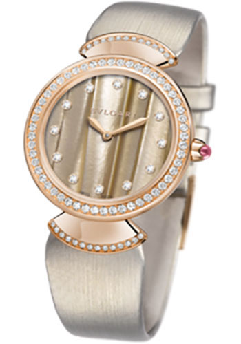 Bulgari Watches - Diva 30 mm - Pink Gold - Style No: 102435 DVP30C5GDL/12
