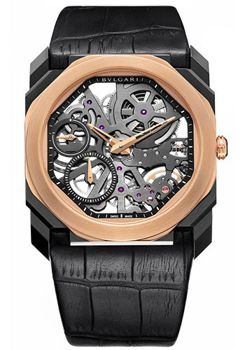 Bulgari Watches - Octo Finissimo - 40 mm - Steel and Rose Gold - Style No: 102469