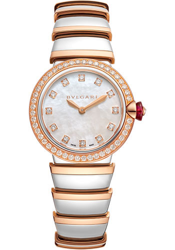 Bulgari Watches - Lucea 28 mm - Steel and Pink Gold - Style No: 102475