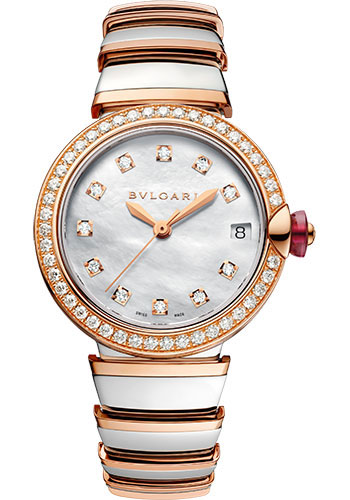Bulgari Watches - Lucea 33 mm - Steel and Pink Gold - Style No: 102476