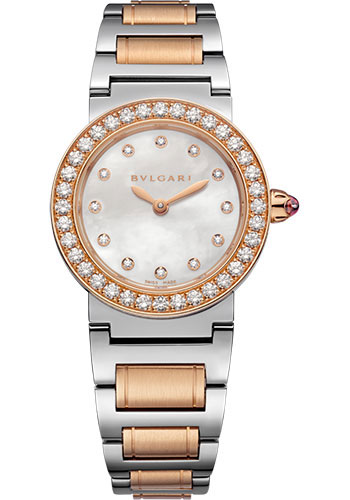 Bulgari Watches - Bulgari Bulgari 26 mm - Steel and Pink Gold - Bracelet - Style No: 102477