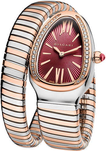 Bulgari Watches - Serpenti 35 mm - Steel and Pink Gold - Style No: 102493 SP35C7SPG.1T