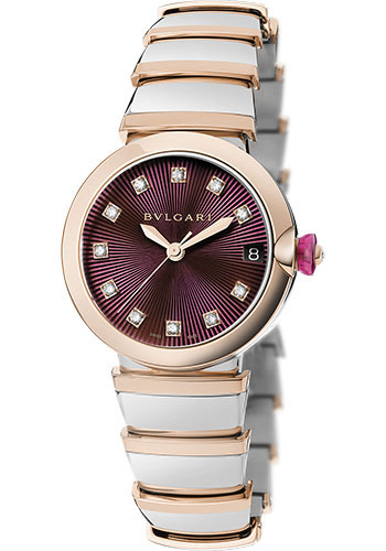 Bulgari Watches - Lucea 33 mm - Steel and Pink Gold - Style No: 102497