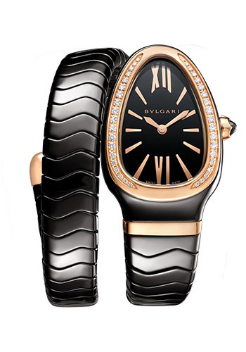 Bulgari Watches - Serpenti Spiga - 35 mm - Black Ceramic - Style No: 102532