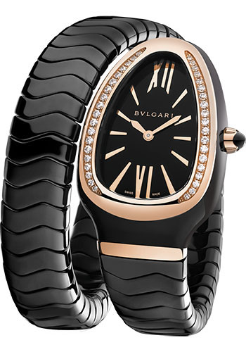 Bulgari Watches - Serpenti 35 mm - Black Ceramic and Pink Gold - Style No: 102532 SPC35BGDBCGD1.1T