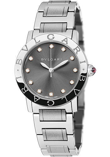 Bulgari Watches - Bulgari Bulgari 33 mm - Stainless Steel - Bracelet - Style No: 102567