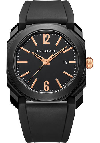 Bulgari Watches - Octo 41 mm - Black Steel - Style No: 102581