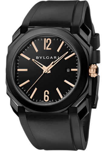 Bulgari Watches - Octo 41 mm - Black Steel - Style No: 102581 BGO41BBSVD