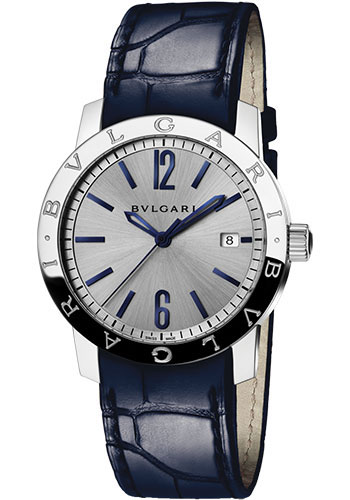 Bulgari Watches - Bulgari Bulgari 39 mm - Stainless Steel - Alligator Strap - Style No: 102610 BB39C6SLD
