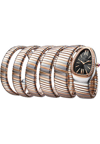 Bulgari Watches - Serpenti Tubogas - 35 mm - Steel and Rose Gold - Style No: 102621