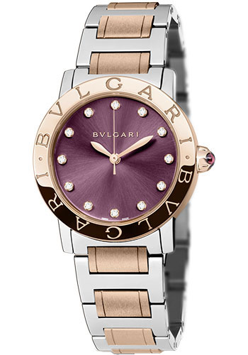 Bulgari Watches - Bulgari Bulgari 33 mm - Steel and Pink Gold - Bracelet - Style No: 102622 BBL33C7SPG/12