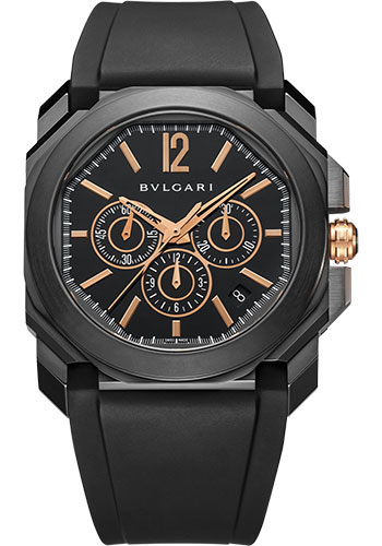 Bulgari Watches - Octo Chronograph - 41 mm - Black Steel - Style No: 102630