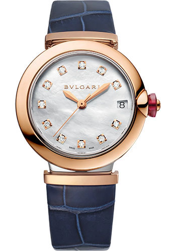 Bulgari Watches - Lucea 33 mm - Rose Gold And Stainless Steel - Style No: 102638