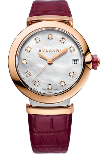 Bulgari Watches - Lucea 33 mm - Steel and Pink Gold - Style No: 102639