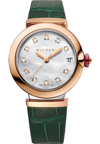 Bulgari Watches - Lucea 33 mm - Steel and Pink Gold - Style No: 102640