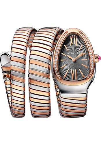 Bulgari Watches - Serpenti Tubogas - 35 mm - Steel and Rose Gold - Style No: 102680
