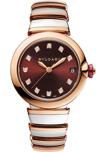 Bulgari Watches - Lucea 33 mm - Steel and Pink Gold - Style No: 102689