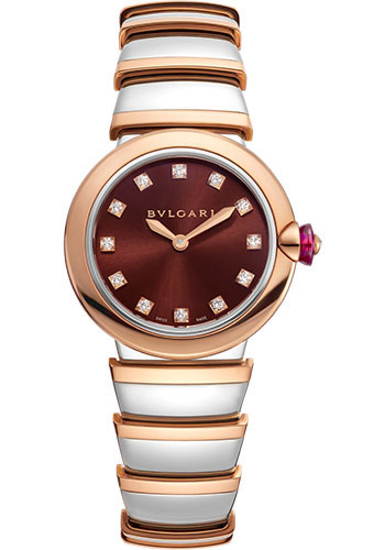 Bulgari Watches - Lucea 28 mm - Steel and Pink Gold - Style No: 102691