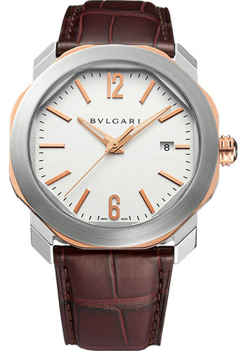 Bulgari Watches - Octo Roma - 41 mm - Steel and Rose Gold - Style No: 102703