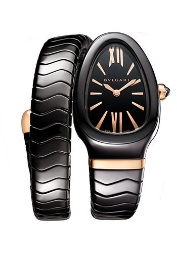 Bulgari Watches - Serpenti Spiga - 35 mm - Black Ceramic - Style No: 102734