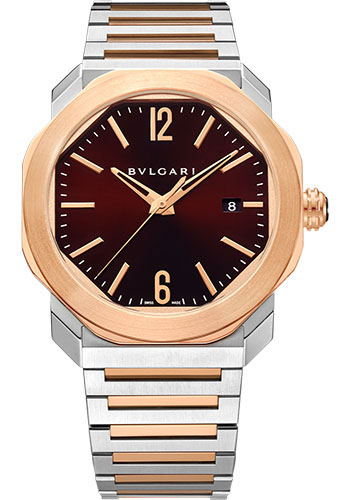 Bulgari Watches - Octo Roma - 41 mm - Steel and Rose Gold - Style No: 102854
