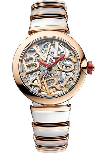 Bulgari Watches - Lucea 33 mm - Steel and Pink Gold - Style No: 102878