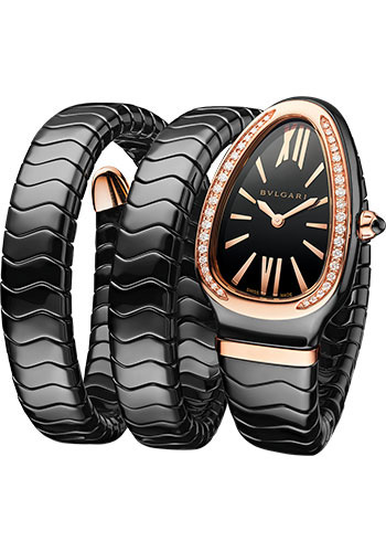 Bulgari Watches - Serpenti Spiga - 35 mm - Black Ceramic - Style No: 102885