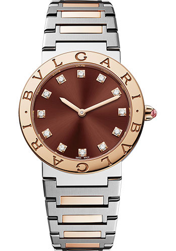 Bulgari Watches - Bulgari Bulgari Lady - 33 mm - Steel and Rose Gold - Style No: 102924