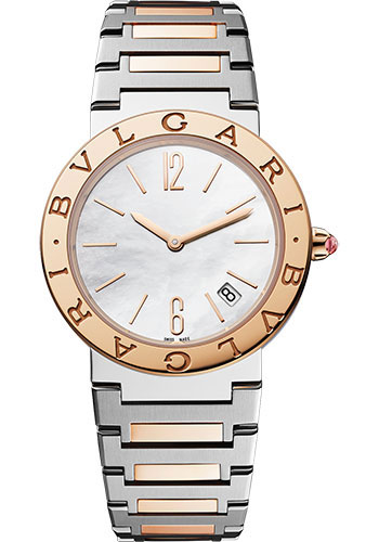 Bulgari Watches - Bulgari Bulgari Lady - 33 mm - Steel and Rose Gold - Style No: 102925