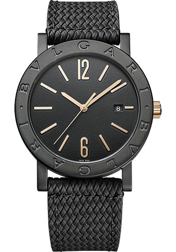 Bulgari Watches - Bulgari Bulgari Solotempo - 41 mm - Black Steel - Style No: 102929