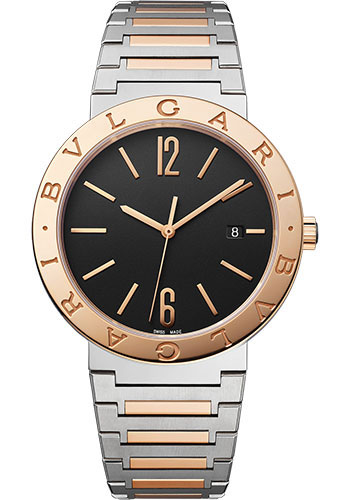 Bulgari Watches - Bulgari Bulgari Solotempo - 41 mm - Steel and Rose Gold - Style No: 102930