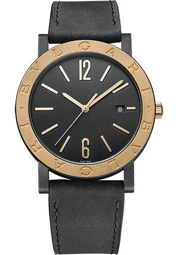 Bulgari Watches - Bulgari Bulgari Solotempo - 41 mm - Black Steel and Bronze - Style No: 102931