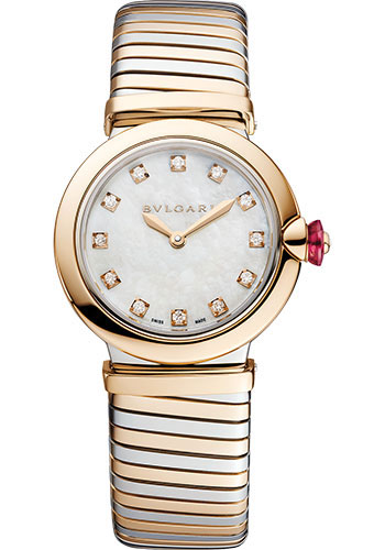 Bulgari Watches - Lucea Tubogas - 28 mm - Steel and Rose Gold - Style No: 102952