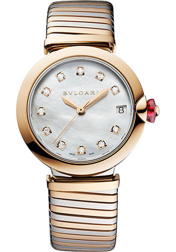 Bulgari Watches - Lucea Tubogas - 33 mm - Steel and Rose Gold - Style No: 102954