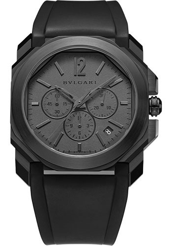 Bulgari Watches - Octo Chronograph - 41 mm - Black Steel - Style No: 103027